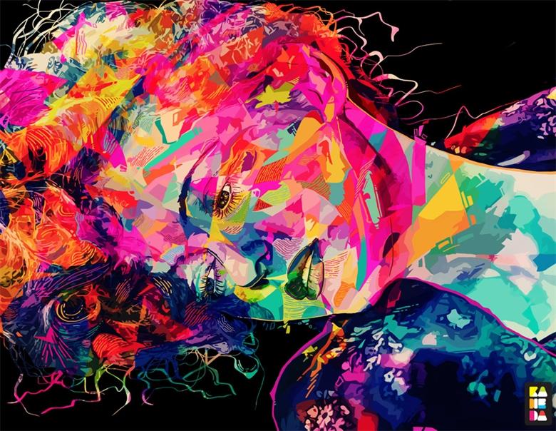 Amazing colorful portraits by Alessandro Pautasso | Art-Spire - photo#1