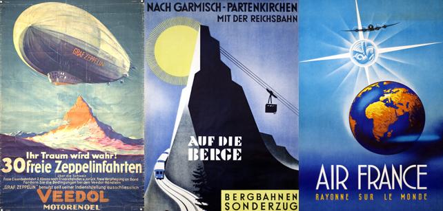Superbes affiches vintage de voyage de 1920 à 1950