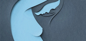 Beautiful minimalist paper cut work by Eiko Ojala
