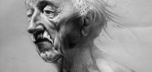 Amazing old men pencil portraits by Sasha Ushkevich