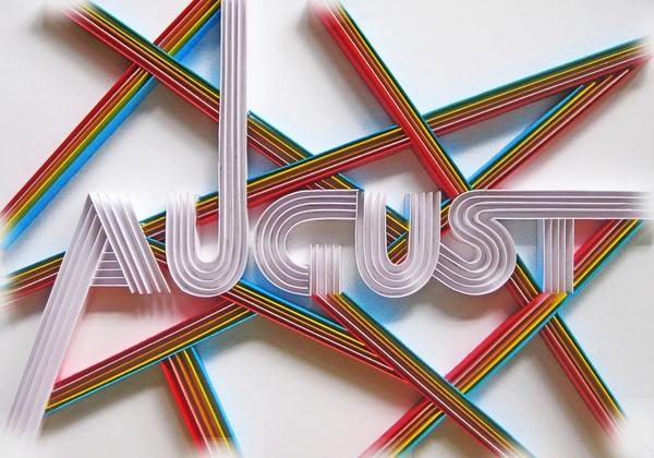 Calendar Wallpaper Quilling : Stunning paper typography by sabeena karnik art spire