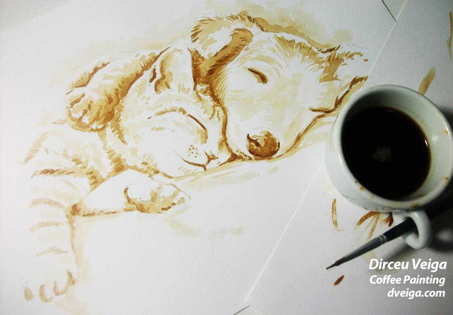 awesome coffee paintings by dirceu veiga art spire