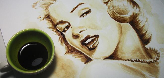 Les incroyables peintures en café de Dirceu Veiga