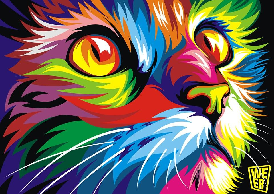 Colorful vector animals by wahyu romdhoni art spire for Imagenes abstractas 3d hd