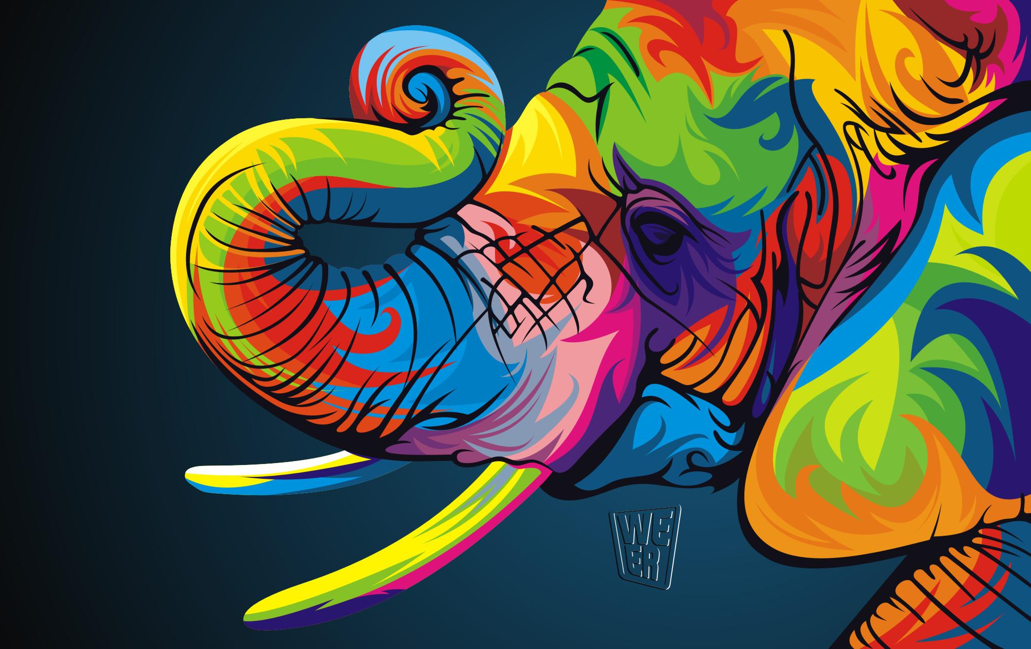 colorful vector animals by wahyu romdhoni art spire