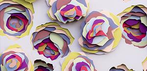 Impressive paper works by Maud Vantours