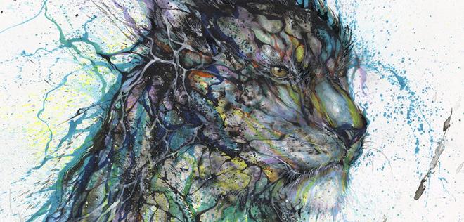 Hua Tunan – Blue Ink Leopard