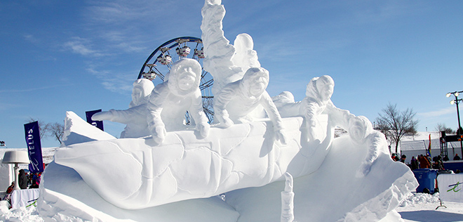 International de Sculpture sur Neige 2014