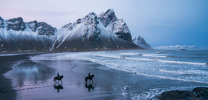 Chris Burkard – Horseback Riders at Vestrahorn