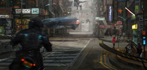 Francesco Lorenzetti – Cross road, a normal day in the future