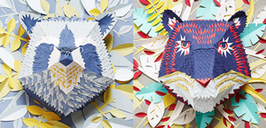Stunning paper animals by Mlle Hipolyte