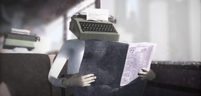 Short Animation Film #271 : Typewriterhead