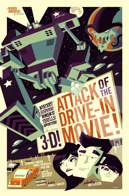Very cool vintage posters by Tom Whalen | Art-Spire