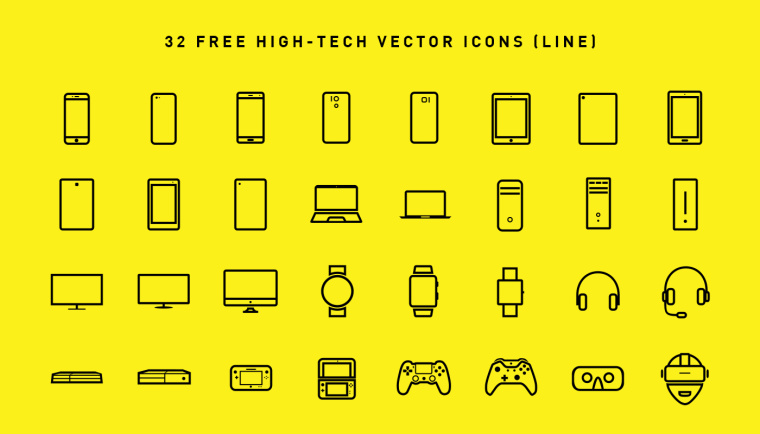 hightech-icons-line