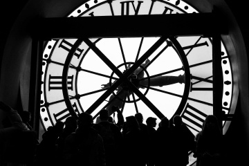 Musée d'Orsay, behind the clock