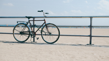 A bike at Coney Island