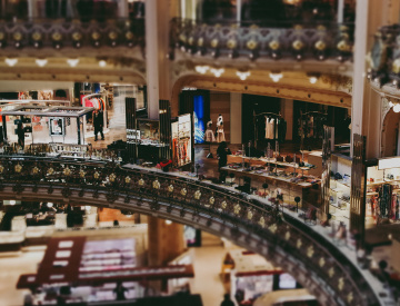 Inside the Galeries Lafayette, Paris